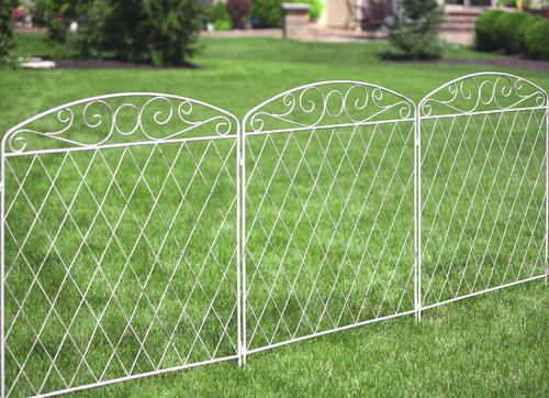 enchanted garden 3 2 x 3 french country scroll fence at menards
